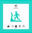 man on treadmill icon vector image vector image