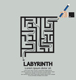 Maze Labyrinth Graphic vector image vector image
