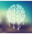 melting icon on blurred background vector image
