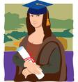 Mona Lisa graduate vector image vector image