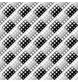 monochrome abstract diagonal square pattern vector image vector image
