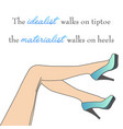 motivational quote about high heels vector image vector image