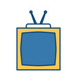 old tv isolated vector image vector image