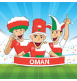 oman football support vector image vector image