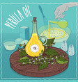 perilla seed oil used for cooking vector image vector image