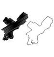 philadelphia city map vector image