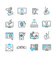 phishing icon collection set vector image