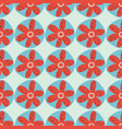 retro flowers seamless background 1960s vector image vector image
