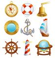sailing icons vector image vector image