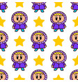 seamless pattern with a girl and star vector image vector image