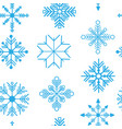 seamless pattern with detailed snowflakes vector image vector image