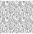 seamless pattern with neurons vector image vector image
