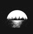 seascape of night sea vector image vector image