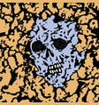 skull is seen from under the ground vector image vector image
