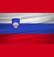 slovenia flag flag of slovenia blowig in the vector image