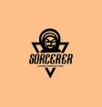 sorcerer gaming logo vector image vector image