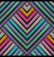 striped embroidery 3d geometric seamless pattern vector image vector image