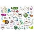 Tea Doodles vector image vector image