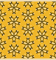 tile yellow seamless floral for decoration or wall vector image