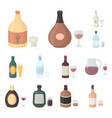 types of alcohol cartoon icons in set collection vector image vector image