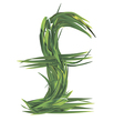 Uk pounds sign from grass vector image vector image