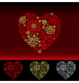 Valentines Day Card with flowers hearts vector image vector image