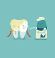 whitening a tooth teeth and tooth concept of dent vector image vector image