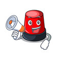 with megaphone sirine character cartoon style vector image vector image