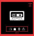 audio cassette icon vector image