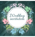 save the date invitation template vector image