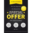 Special Offer on black vector image