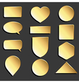 yellow icons set vector image
