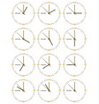a set of mechanical clocks vector image vector image