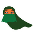 a woman with her head and face covered with a vector image