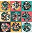 Abstract pattern with retro shapes rings vector image vector image