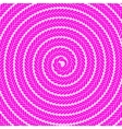 Abstract Pink Spiral Pattern vector image vector image