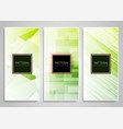 abstract various colorful header set collection vector image vector image