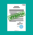 approved paper document vector image vector image