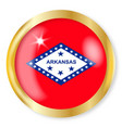 arkansas flag button vector image vector image