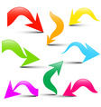 Arrows Set Colorful 3D Arrow Icons Isolated on vector image vector image