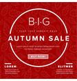 autumn big sale retro flyer vector image vector image