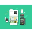 Cash machne and digital terminal for cards vector image vector image