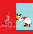 christmas card set merry and happy new vector image vector image