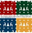christmas icons seamless pattern vector image
