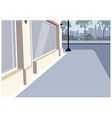 City Sidewalk Scene vector image