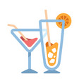 cocktails flat vector image vector image