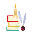 color books candle vector image