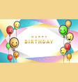 colorful birthday design banner background for vector image vector image