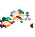 Colorful overlapping geometric template