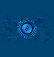 compound comp token symbol defi project vector image vector image